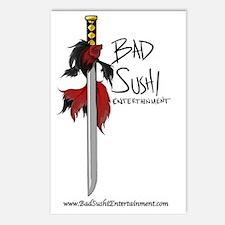 Bad Sushi color logo Postcards (Package of 8)
