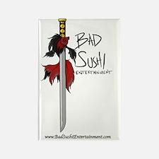 Bad Sushi color logo Rectangle Magnet