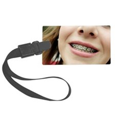 Trapped food in dental braces Luggage Tag