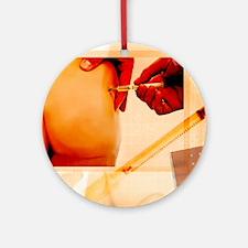 Vaccination, conceptual artwork Round Ornament