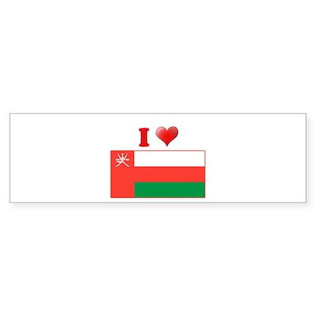 I love Oman Flag Bumper Sticker