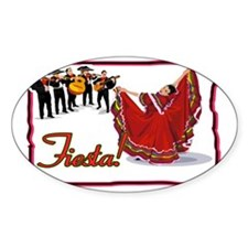 Mariachis and Mexican Dancer FIESTA Decal