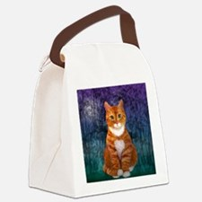 Orange Tabby Cat Snowflake Orname Canvas Lunch Bag