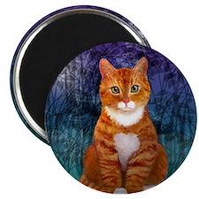 Orange Tabby Cat Snowflake Ornament Magnet