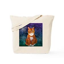 Orange Tabby Cat Snowflake Ornament Tote Bag