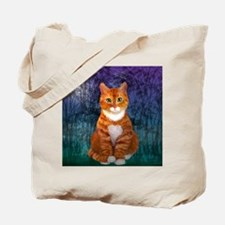 Orange Tabby Cat Snowflake Ornament Tote Bag
