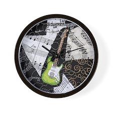 green-strat-sq Wall Clock