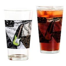 green-strat-sq Drinking Glass
