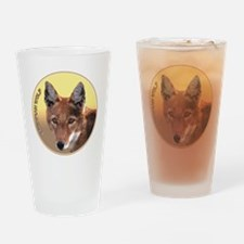 Ethiopian Wolf Drinking Glass