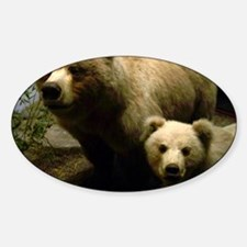 Momma Bear and Cub Sticker (Oval)