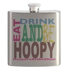 Eat, Drink and Be Hoopy Flask