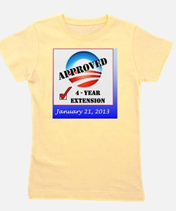 Obama Approval Rating Inauguration shir Girl's Tee
