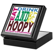 Eat, Drink and Be Hoopy Keepsake Box