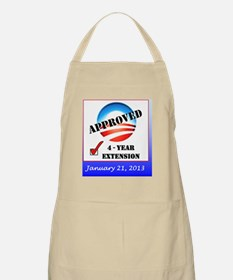 Obama Approval Rating Inauguration shirt Apron