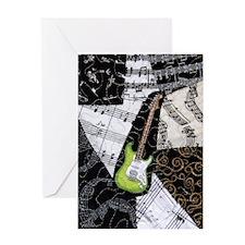 guitar-green-strat-full Greeting Card