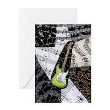 green-strat-ipad2-hard Greeting Card