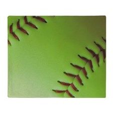 Optic yellow fastpitch softball Throw Blanket