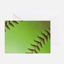 Optic yellow fastpitch softball Greeting Card