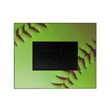 Optic yellow fastpitch softball Picture Frame