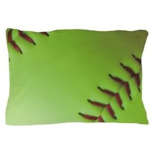 Optic yellow fastpitch softball Pillow Case