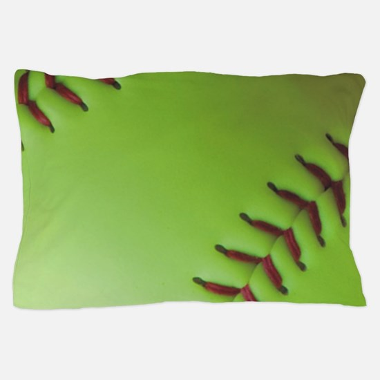 Optic yellow fastpitch softball Pillow Case