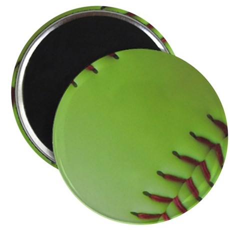 Optic yellow fastpitch softball Magnet