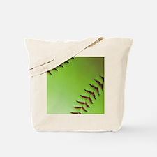 Optic yellow fastpitch softball Tote Bag