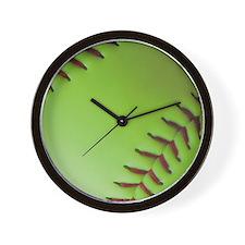 Optic yellow fastpitch softball Wall Clock