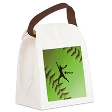 iPitch Fastpitch Softball (right  Canvas Lunch Bag