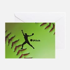 iPitch Fastpitch Softball (right han Greeting Card
