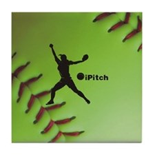 iPitch Fastpitch Softball (right hand Tile Coaster