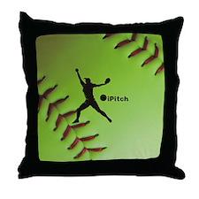 iPitch Fastpitch Softball (right hand Throw Pillow