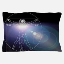 Vitruvian man with flare in chest Pillow Case