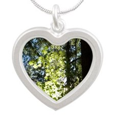 Trees Silver Heart Necklace