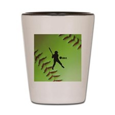 iHit Fastpitch Softball (right handed) Shot Glass