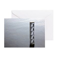 Water depth marker Greeting Card