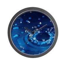 Water droplet impact, sequence Wall Clock
