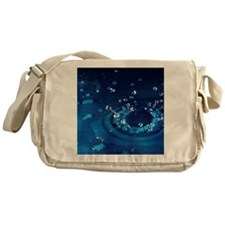 Water droplet impact, sequence Messenger Bag