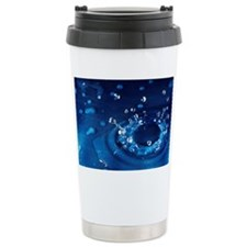 Water droplet impact, s Travel Mug