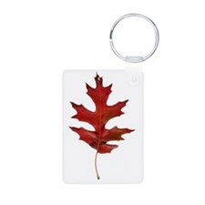 Scan of an Oak Leaf Keychains