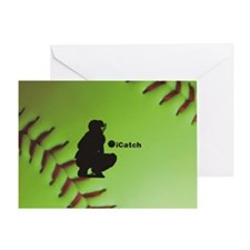 iCatch Fastpitch Softball Greeting Card
