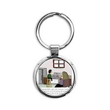 Staccato Touch Round Keychain