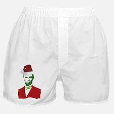 Merry Xmas, Abe! Boxer Shorts