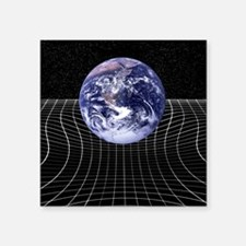 "Warped space-time due to gr Square Sticker 3"" x 3"""