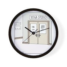 Yoga Studio Wall Clock