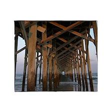 000-Pawleys Pier Throw Blanket