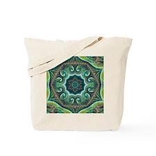 Pastel Fractal Kaleidoscope Tote Bag