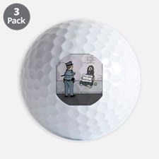 Grammar Police Golf Ball
