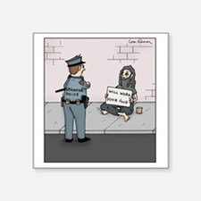 "Grammar Police Square Sticker 3"" x 3"""