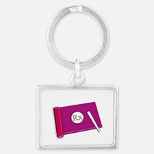 i count by 5 pink DARKS Landscape Keychain